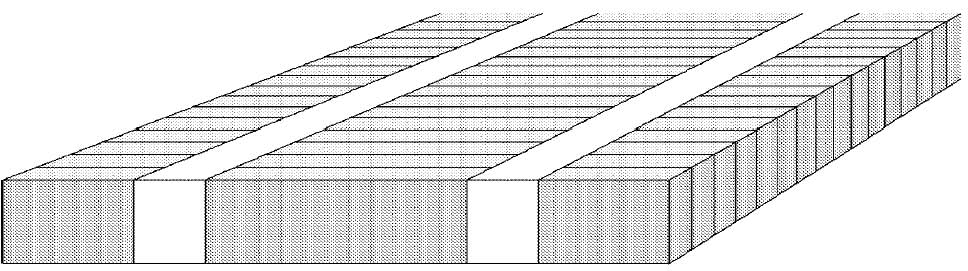 CAD drawing of industrial parquet bundled in edgewise