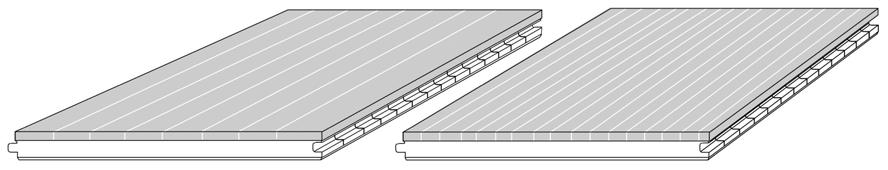 CAD drawing 3-ply bamboo engineered flooring