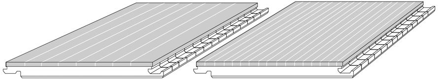 CAD drawing for 3-layer bamboo-top-click-flooring