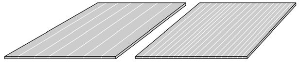 CAD drawing of the single layer plates in horizontal and vertical 5 mm thick