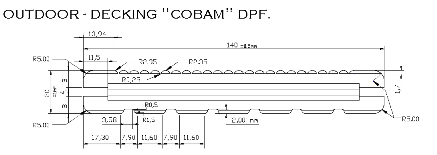 05-CAD drawing profile on bamboo decking
