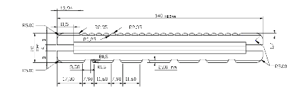 02-CAD drawing profile on bamboo decking