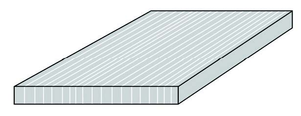 CAD drawing of the 1-layer panel in vertical 19 mm thick