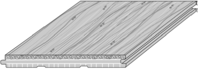 CAD drawing for the woven rustic floorboard solid